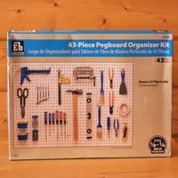43-Piece Pegboard Organizer Kit