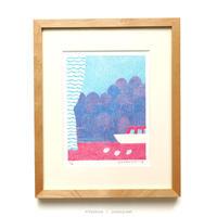 芳野「森の海」*額装品