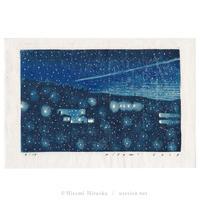 平岡瞳 木版画「夜」*シート