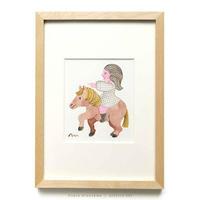 水沢そら「馬の景 風の景 挿絵1」