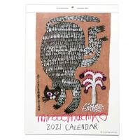 ミロコマチコ 壁掛カレンダー2021
