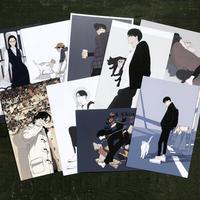 丹地陽子「めがね」ポストカード全9枚組