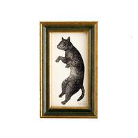 坂本千明 紙版画「猫3」*額装品