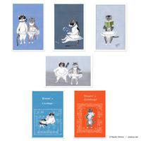 庄野ナホコ「すず子とまめ子」ポストカード