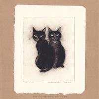 坂本千明 紙版画「猫9」*シート