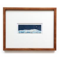 平岡瞳 木版画「夜 1」