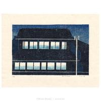平岡瞳 木版画「窓の光」*シート