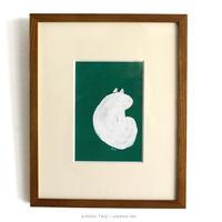 たんじあきこ 作品「みどりの中の白猫」