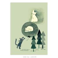 たんじあきこ「ある3びきのきょうだい猫の話」A3ポスター