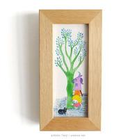 たんじあきこ 作品「みどりの木と」
