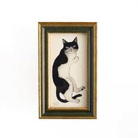 坂本千明 紙版画「猫2」*額装品