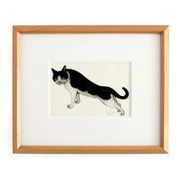 坂本千明 紙版画「猫13」*額装品