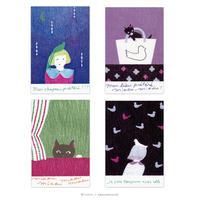 芳野 ポストカード(猫と鳥)