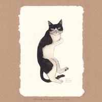 坂本千明 紙版画「猫2」*シート