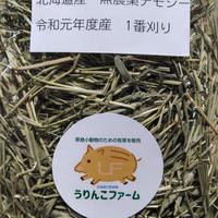 北海道産無農薬チモシー 令和元年度産 1番刈り(500g)