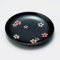 桜ちらし 銘々皿(黒)5枚セット
