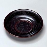 牡丹彫 茶托(溜)5枚セット