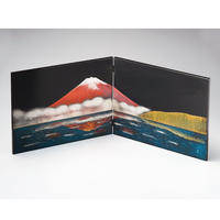 立山彫富士山 二枚屏風(黒)