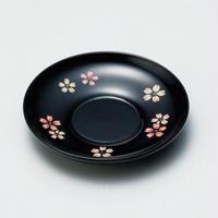 桜ちらし 4.0茶托(黒)5枚セット