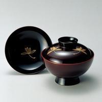 三っ蘭 吸物椀(溜)5客セット