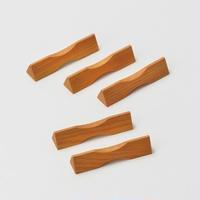 箸置・三角(ケヤキ)5個セット