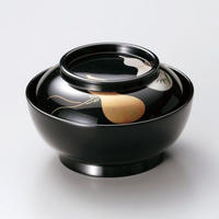 瓢 菓子椀 小煮物椀(黒)5客セット