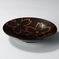 透かし桜 90和洋皿(黒)