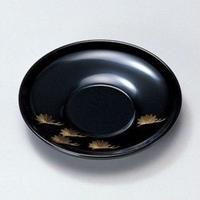 沈金松 4.0茶托(黒)5枚セット