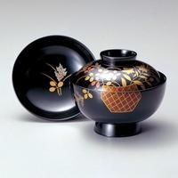 花籠 吸物椀(黒)5客セット