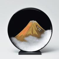 金富士 飾り皿スタンド付き(黒)