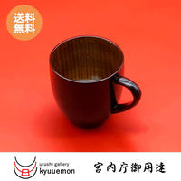水玉カップ(黒)