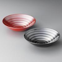 銀の波 フリーボールMペア(黒・赤)