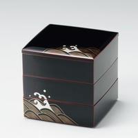 青海波 50三段重(溜内朱)