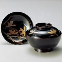 蘭 煮物椀(溜)