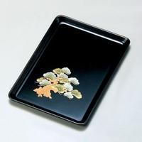 観世松 9.0祝儀盆(黒)