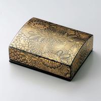 沈金菊彫 名刺箱(黒)