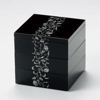 アールデコ 5.5寸三段重箱(溜)