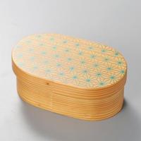 麻の葉 日本の弁当箱 小判