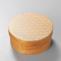 青海波 日本の弁当箱 丸