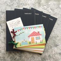 【先行予約特典付きB】大人の時間割帳(日付なし)4冊と手づくりノートのセット
