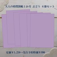 【先行予約特価】大人の時間割帳(1か月)6冊セット ぶどう