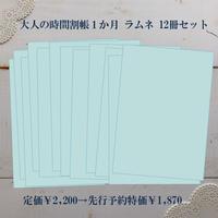 【先行予約特価】大人の時間割帳(1か月)お徳用12冊セット ラムネ