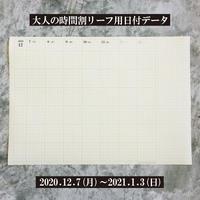 【無料】お試し用昨年2020年12月日付PDFデータ・リーフ用