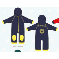 ducksday Fleece suits Blue/yellow( 74-80cm~92-98cm )