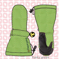 ducksday Mittens Funky green ( S / M / L )