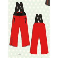 ducksday Winterpants with braces  Red ( 2y / 4y / 6y )