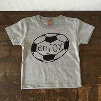 ▲送料無料 100サイズ/半そで uyoga enjoy soccer Tシャツ 5.6oz ミックスグレー