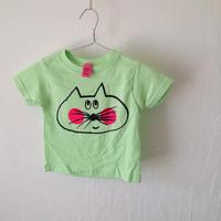 ▲送料無料 80サイズ/半そで ねこもぐらさんTシャツR 5.5oz uyoga cat mole ミント ほっぺあり 847番目のねこもぐらさん