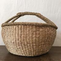 ベトナムのまるっこい手づくりかご handmade シーグラス ラウンド バスケットA Lサイズ AL-12