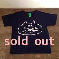 ▲送料無料 100サイズ/半そで ねこもぐらさんTシャツ 6.2oz uyoga cat mole ネイビー 492番目のねこもぐらさん